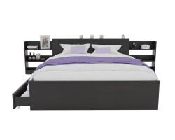 Кровать Доминика с блоком и ящиками 180 (Венге) с матрасом PROMO фото