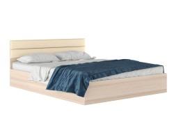 """Двуспальная кровать """"Виктория МБ"""" 1600 дуб с мягким фото"""