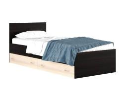 """Односпальная кровать """"Виктория"""" на 900 мм. с ящиками в фото"""
