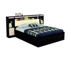 """2-спальная кровать """"Виктория ЭКО-П"""" 160 см. с мягким б фото"""