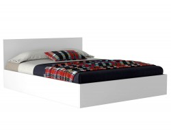 Двуспальная кровать Виктория 160 белая фото