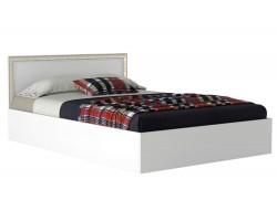 Кровать Виктория-Б 1400 с багетом белая фото