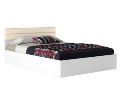 Двуспальная кровать Виктория-МБ 140 белая фото