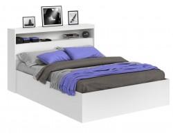 Кровать Виктория белая 140 с блоком фото