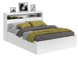 Кровать Виктория белая 160 с блоком фото