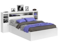 Кровать Виктория белая 140 с блоком и тумбами фото