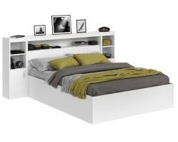 Кровать Виктория белая 160 с блоком и тумбами фото