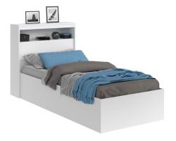 Кровать Виктория белая 90 с блоком и матрасом ГОСТ фото