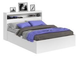 Кровать Виктория белая 140 с блоком и матрасом ГОСТ фото