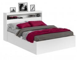 Кровать Виктория белая 180 с блоком и матрасом ГОСТ фото