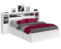 Кровать Виктория белая 180 с блоком, тумбами и матрасом ГОСТ фото