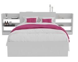 Кровать Доминика с блоком 120 (Белый) фото