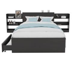 Кровать Доминика с блоком и ящиками 120 (Венге) фото