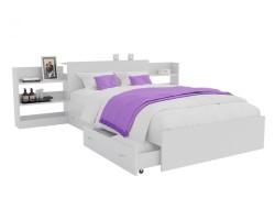 Кровать Доминика с блоком и ящиками 120 (Белый) фото