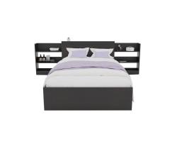 Кровать Доминика с блоком 120 (Венге) с матрасом ГОСТ фото