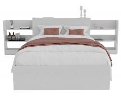 Кровать Доминика с блоком 120 (Белый) с матрасом ГОСТ фото