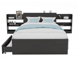 Кровать Доминика с блоком и ящиками 120 (Венге) с матрасом ГОСТ фото