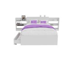 Кровать Доминика с блоком и ящиками 120 (Белый) с матрасом ГОСТ фото