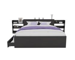 Кровать Доминика с блоком и ящиками 120 (Венге) с матрасом АСТРА фото